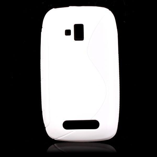 S-Line Solid (Valkoinen) Nokia Lumia 610 Suojakuori