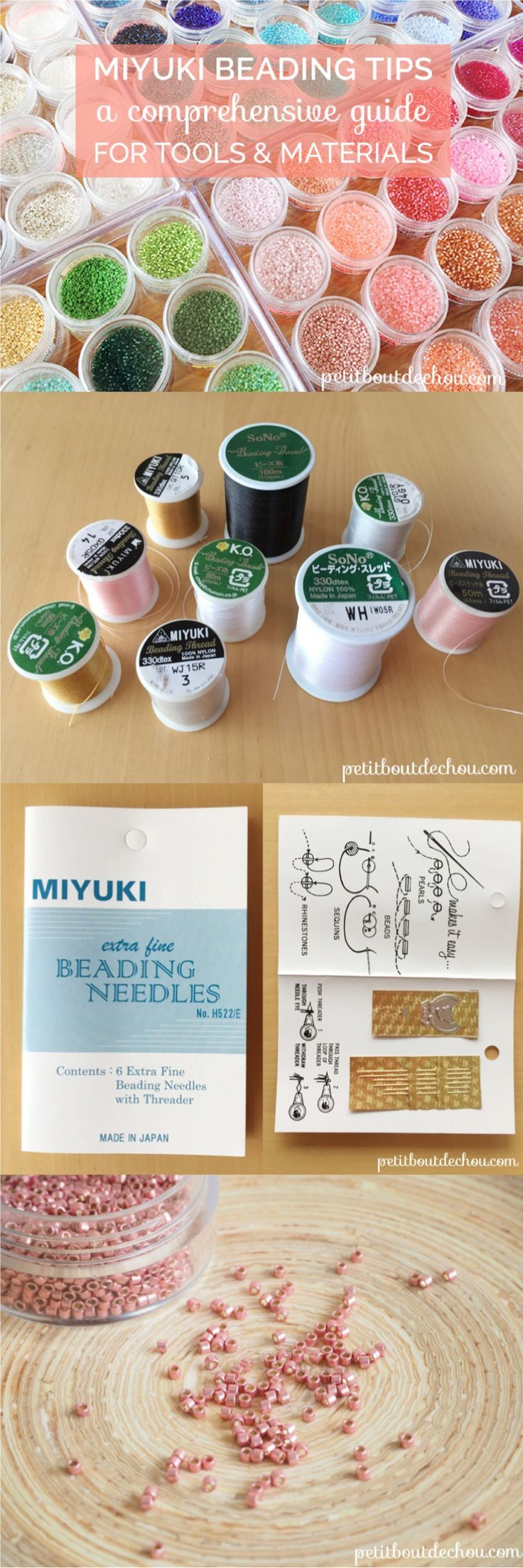 Whether you are a beginner or a confirmed Miyuki bead lover, this informative guide will help you choose the right beading equipment and discover great tips for your beading activity!