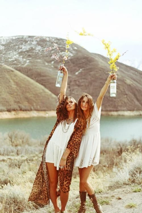 love: Fashion, Friends, Hippie, Style, White Dress, Boho, Free Spirit, Flower, Bohemian