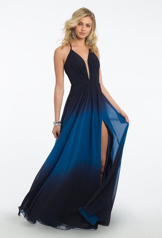 Ombre Halter Plunge Lace Up Back Dress En 2019 Vestidos