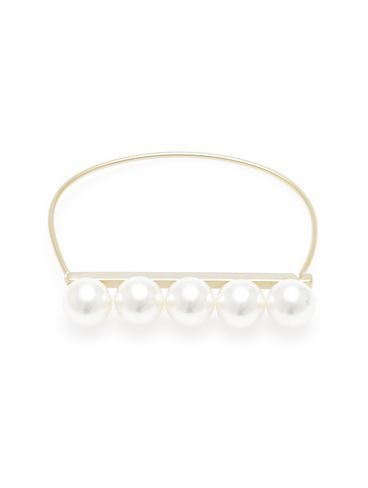 Bar Of Pearls bangle - Matte Gold