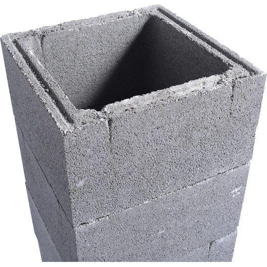 element_de_pilier_beton_h_190_x_l_26_x_p_26_cm