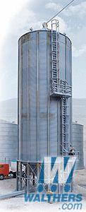 """Walthers - Wet/Dry Grain Storage Bins pkg(2) - Kit - Each: 3-5/8 x 3-5/8 x 12"""" 8.6 x 8.6 x 30.5cm - 933-2937"""