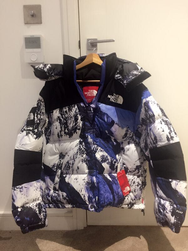 SUPREME THE NORTH FACE MOUNTAIN BALTORO ICE BLUE BOMBER