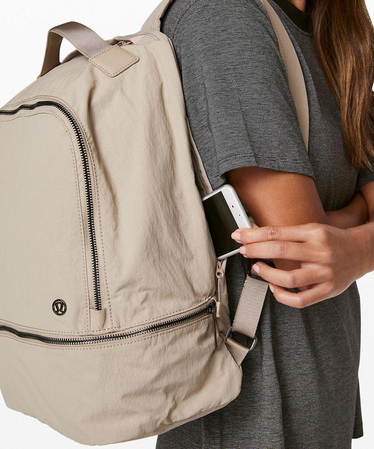 lululemon Women's City Adventurer Backpack Sandlot, Size One Size Cute Mini Backpacks, Stylish Backpacks, Cool Backpacks, Teen Backpacks, Leather Backpacks, Leather Bags, Backpack Outfit, Backpack Purse, Lululemon Bags