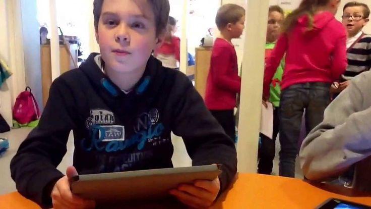 Kinderen van basisschool de Parel vertellen over de iPad in de klas
