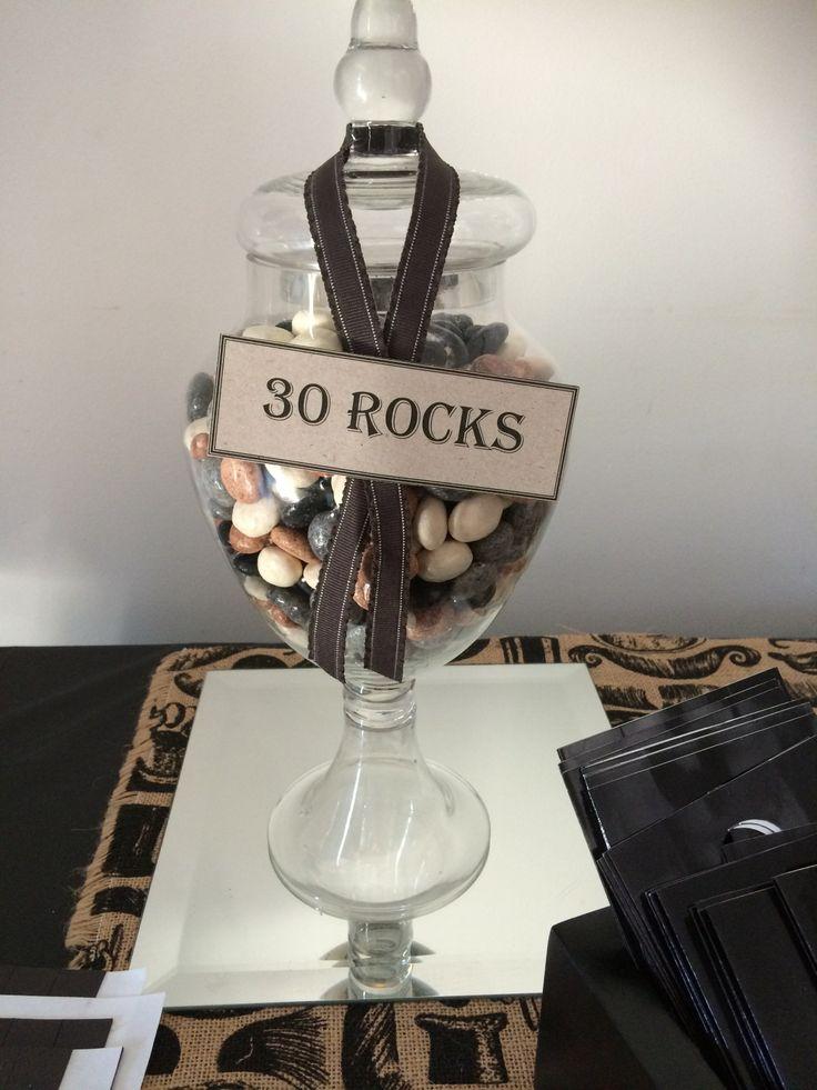 30th Birthday - 30 Rocks :) candy coated chocolate rocks