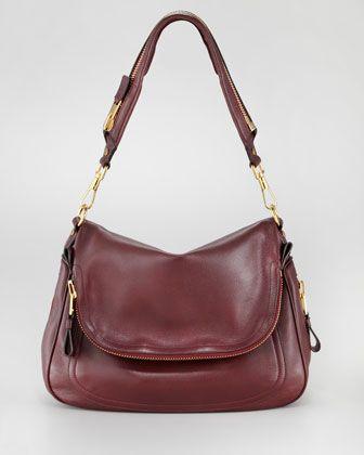 Tom Ford Large Jennifer Flap-Top Bag, Oxblood