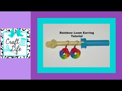 Rainbow Loom Earring Tutorial on How To Make Friendship Bracelets! #makingbracelets