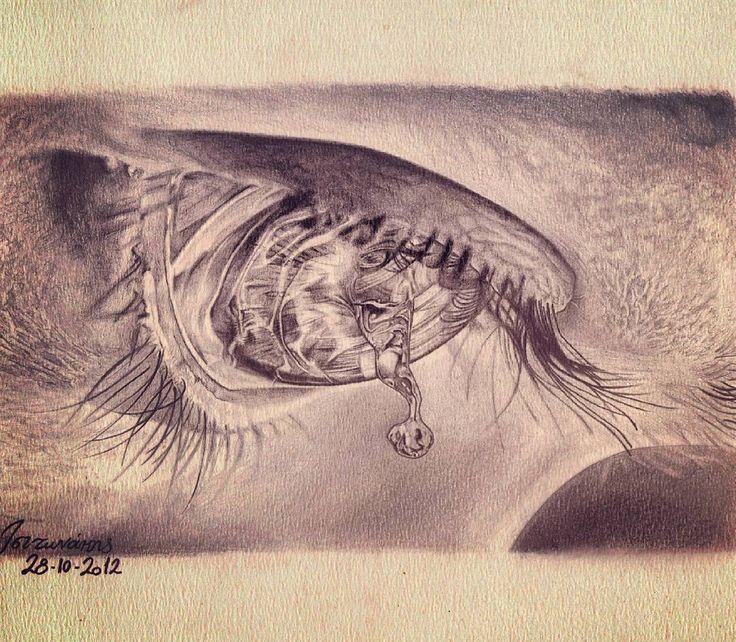 #eye #draw #eyesketch #sketch #reflaction #psychedelic #tear #teardrop #pencil #art #instaart