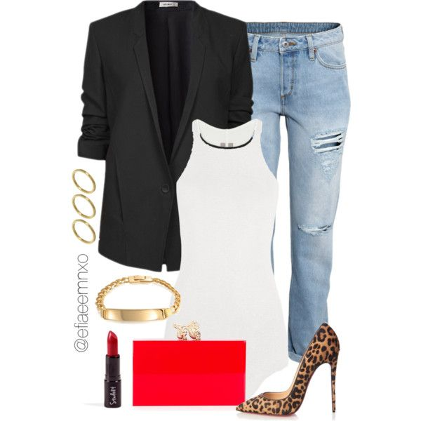 A fashion look from January 2016 featuring Rick Owens tops, Helmut Lang blazers and H&M jeans. Browse and shop related looks.