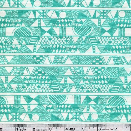 Sarah Watson brings us Indian Summer - a vision replete with animals, colorful landscapes, and graphic punch! Detailed doodles create a graphic stripe in this print. This quilting weight fabric is 100% cotton and is 45