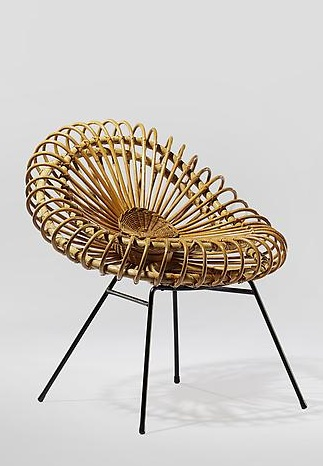 "Chair by Janine Abraham and Dirk Jan Rol, 1950s, ""Corolles"" chair."
