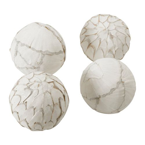 IKEA SOMLIG Decoration, ball White You can arrange the decoration balls in a bowl or large vase and combine them with LUGGA candle in the same colour to ...