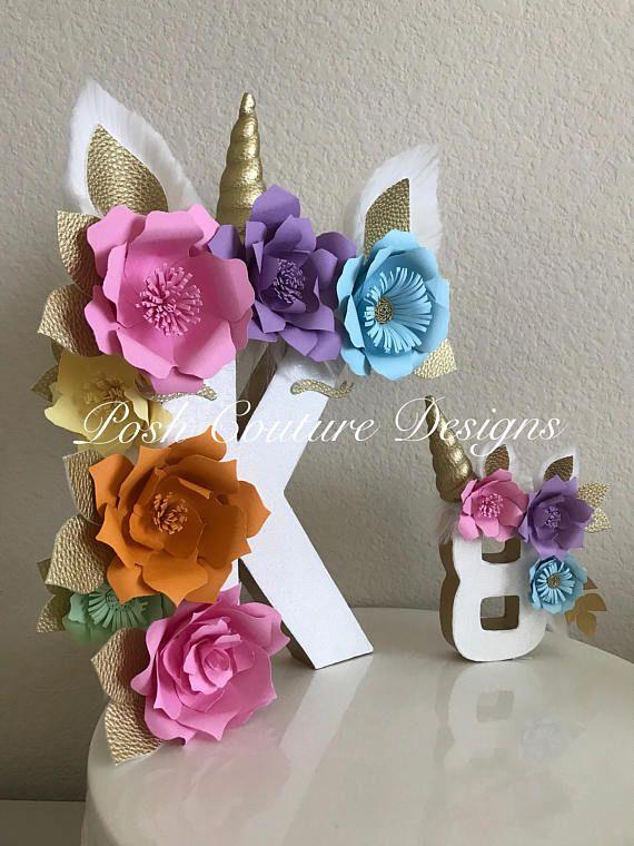 Unicorn Floral Letters/ Unicorn Floral Numbers/ Unicorn Party/