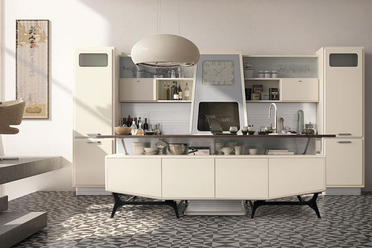 St. Louis Retro Looking Kitchen Series By Marchi Cucine