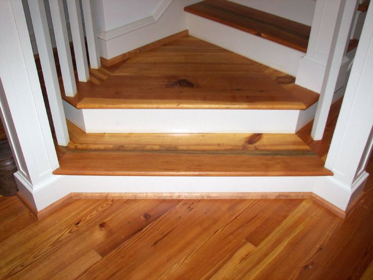 Antique Country Heart Pine Stair Treads Laminate Stairs