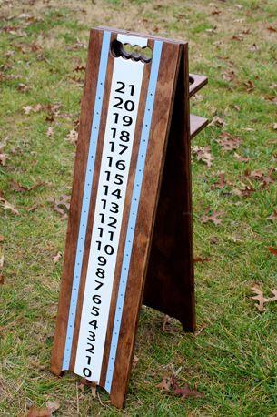 Stain:Blue:White Custom Scoring Tower by The Cornhole Guy 1210124