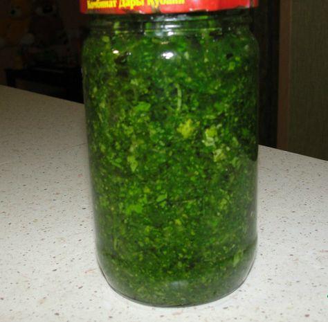 Источник рецепта сайт Поваренок  Хочу поделиться своим любимым и проверенным рецептом сохранения аромата и цвета свежей зелени. Это ооочень удобно, в рецепте нет соли и замораживать ничего не нужно. …