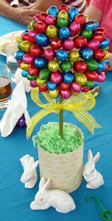 Easter Egg Topiary - so many eggs to eat now.