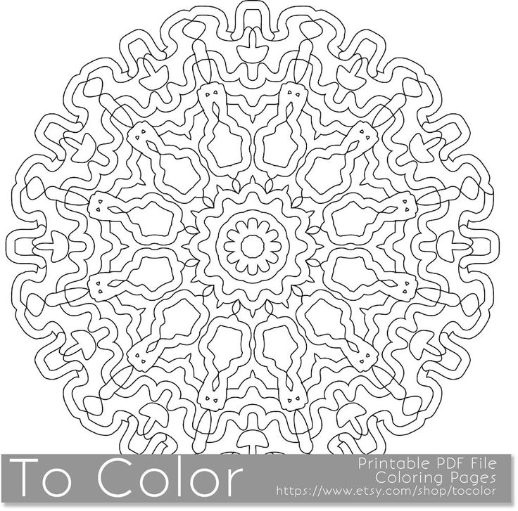 Printable coloring pages for adults mandala pattern pdf Mandala coloring book for adults pdf
