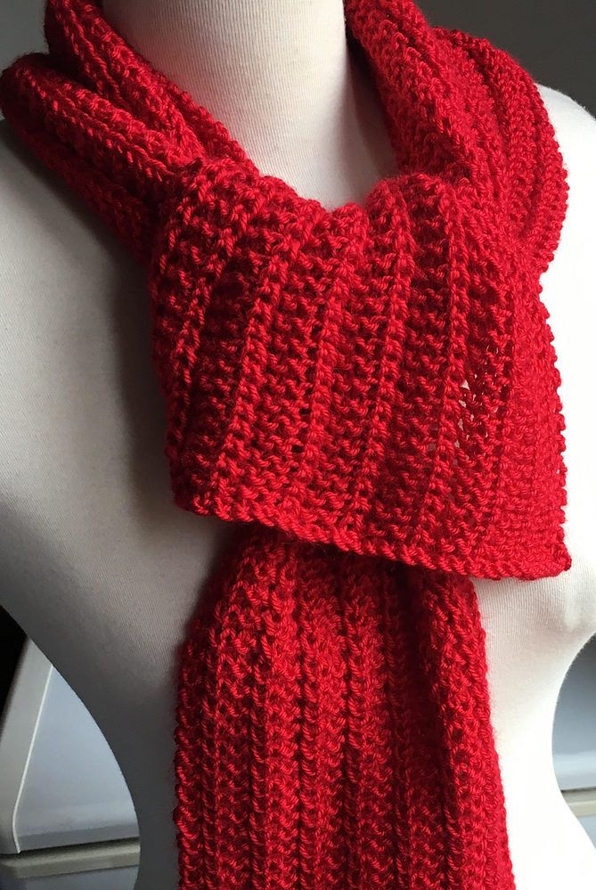 Free Knitting Pattern For One Row Repeat Scarf This One