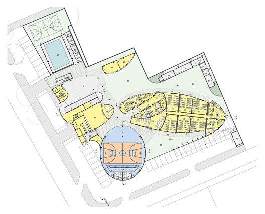 Ampliação da Escola MOPI,Planta Baixa - Térreo