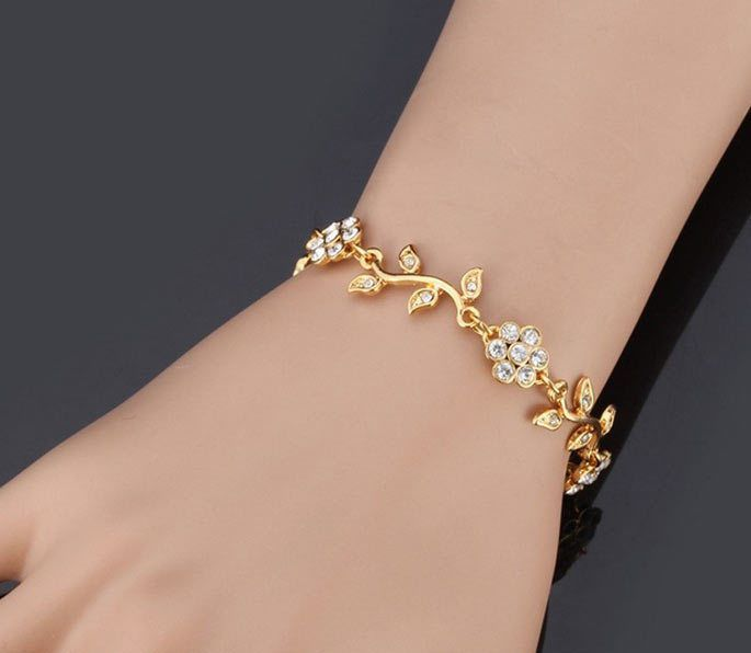 New Dubai 18k Gold Plated Islamic Allah Bracelet Cuff Bangle Womens Jewelry CZ #Cuff