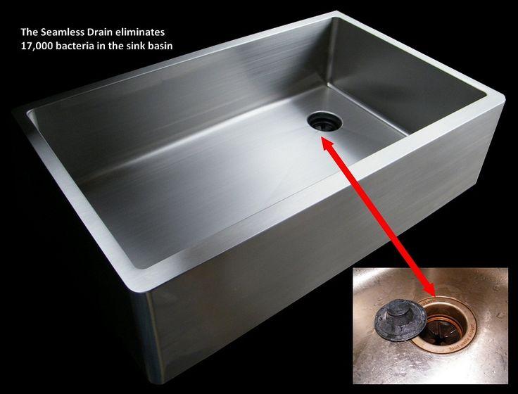 custom ultraclean sinks are handmade in cincinnati ohio of 16 gauge 304 stainless steel  undermount kitchen     14 best stainless steel drainboard undermount kitchen sink images      rh   pinterest com