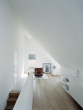 Making use of space at the top of the attic stairs
