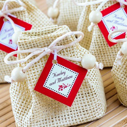 Personalized Diamond Wedding Favor Gift Tags by Beau-coup