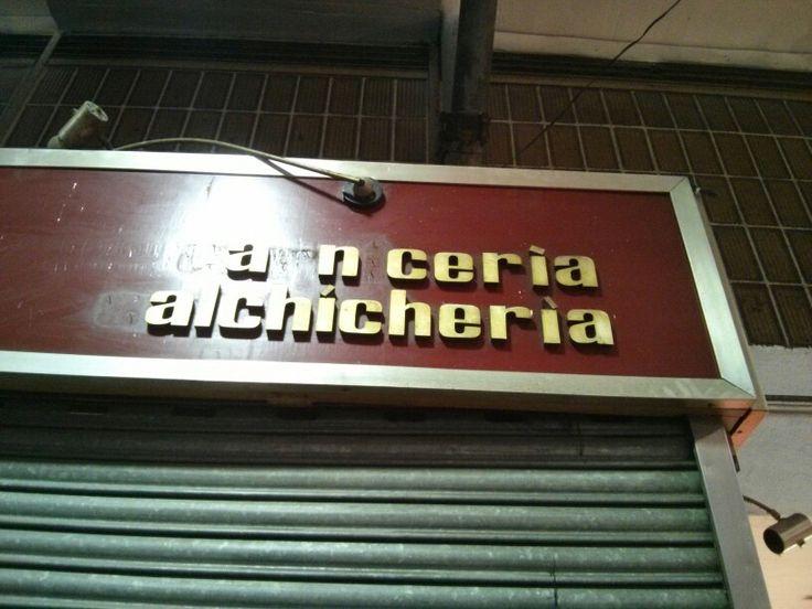 Carniceria Mercado de la Cebada. Madrid.
