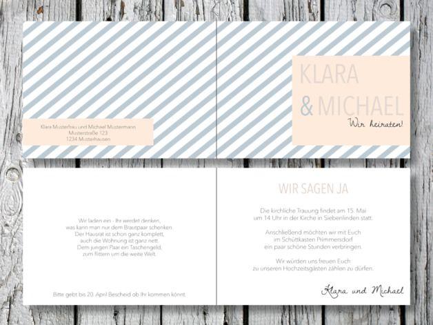 Einladungskarten - Individuelle Hochzeitseinladung | Beautiful Love - ein Designerstück von for-magic-moments bei DaWanda