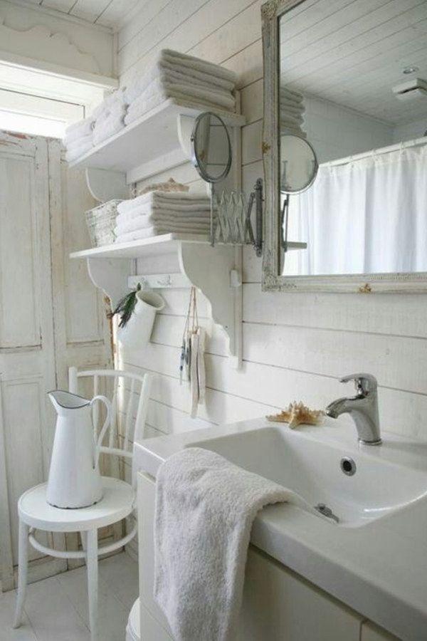10 Creative Shabby Chic Style Bathroom Decor Ideas To Consider For Your Cabin Shabby Chic Bathroo Salle De Bains Chics Deco Salle De Bain Chambre Shabby Chic