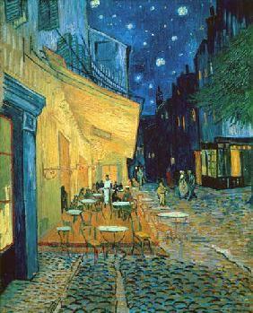 Vincent van Gogh -( 30.März 1853- 29..Juli 1890 ) niederländische Maler = Caféterrasse bei Nacht