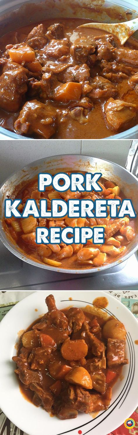 Pork Kaldereta is cooked in the same manner as the Chicken Kaldereta version. There's just a bit of difference when it comes to the vegetables. Prepare the Pork and the vegetables, making sure they are washed well and the potatoes and carrots are peeled and cut into small portions, almost with the same size as the pork