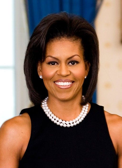 Michelle Obama Hairstyle ..Love the pearls