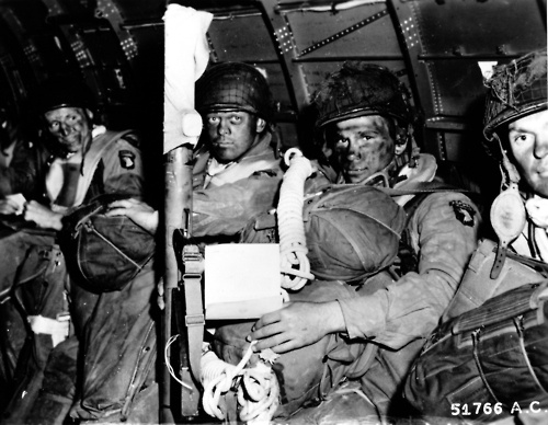 Screaming Eagles, apparently Bill Guarnere is the 2nd man from the right