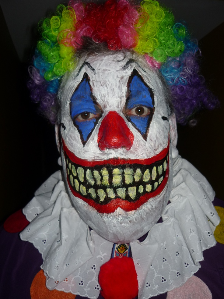 Scary Clown | Scary clown face, Scary clowns, Creepy clown
