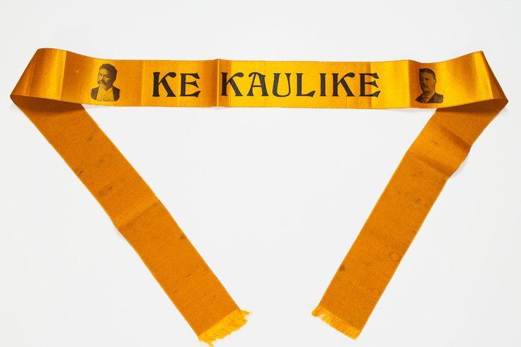 Rare 1890s Prince Kuhio Campaign Armband Ribbon circa 1903 - Ke Kaulike