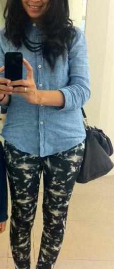 Denim shirt Zara Legging