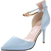Minetom Mujer Moda Correa De Tobillo Estiletes Zapatos Puntiagudos Tacón Alto Sandalias
