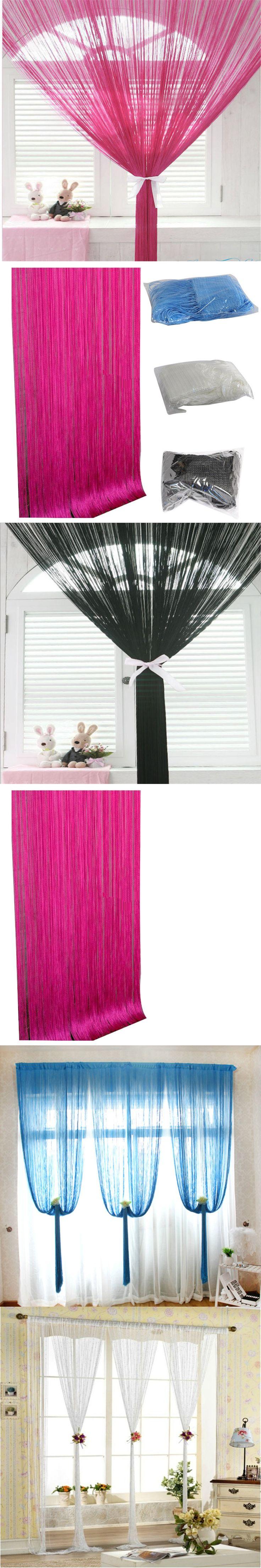 Special Line tassel string curtain 100 * 200cm drape purdah interior Valance curtains decorative French Window upscale hotel $8.2