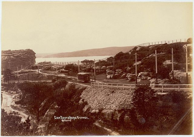 The Gap at South Head, Watsons Bay, a coastal suburb of Sydney, NSW.  circa 1910. v@e