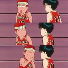 Sakuragi and Rukawa always have a funny problem when game on #slamdunk #anime #