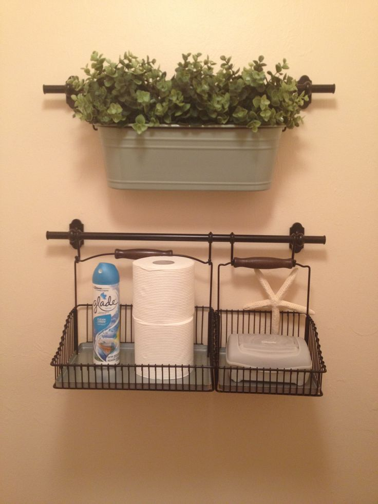 Fintorp, ikea -hacked it for bathroom storage!