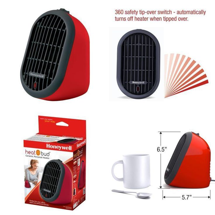 Portable Space Heater Electric Hot Room Office Desk Thermostat Small Heating Fan