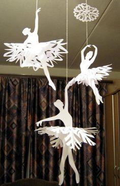 ballerina paper snowflakes