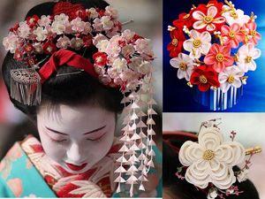 Какие украшения для волос используют японские женщины?