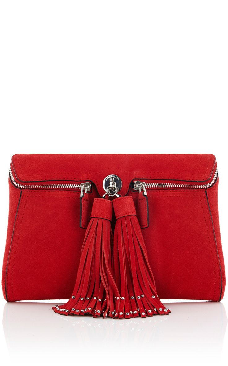 Karen Millen..........I love, love, love, tassels! This is a wonderful bag. I love the two zippers. They are not only gorgeous but they make it so easy to get in your purse and find everything at a glance.